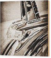 1953 Pontiac Hood Ornament Wood Print