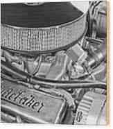 1953 Studebaker Champion Starliner Engine Wood Print