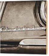 1953 Studebaker Champion Starliner Side Emblem Wood Print