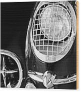 1954 Chevrolet Corvette Head Light Wood Print