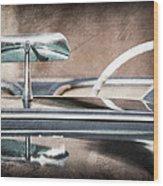 1954 Chevrolet Corvette Rearview Mirror Wood Print