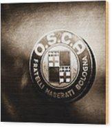 1954 O.s.c.a. Mt4 Maserati Emblem Wood Print