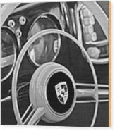 1954 Porsche 356 Bent-window Coupe Steering Wheel Emblem Wood Print