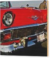 1955 Chevy Bel Air Front End Wood Print