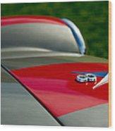 1955 Fiat 8v Zagato Hood Emblem Wood Print