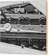 1955 Jaguar Engine Wood Print
