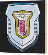 1955 Mercury Montclair Convertible Emblem Wood Print