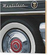 1955 Mercury Montclair Convertible Wheel Emblem Wood Print