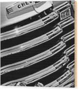 1956 Chevrolet 3100 Pickup Truck Grille Emblem Wood Print