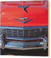 1956 Chevrolet Belair Convertible Custom V8 Wood Print