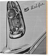 1956 Chevrolet Belair Taillight Emblem Wood Print