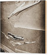 1956 Chevrolet Hood Ornament Wood Print
