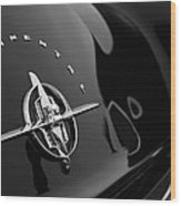 1956 Continental Mark II Coupe Rear Emblem Wood Print