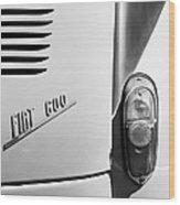 1956 Fiat 600 Taillight Emblem Wood Print