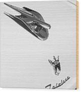 1956 Ford Crown Victoria Fairlane Hood Ornament - Emblem Wood Print