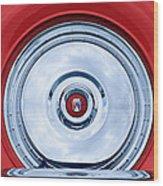 1956 Ford Thunderbird Spare Tire Emblem Wood Print