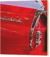 1956 Ford Thunderbird Taillight Emblem Wood Print