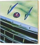 1956 Hudson Rambler Station Wagon Grille Emblem - Hood Ornament Wood Print