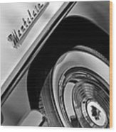 1956 Mercury Montclair Wheel Emblem Wood Print