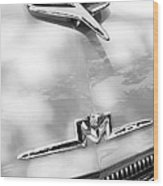 1956 Mercury Monterey Hood Ornament - Emblem Wood Print