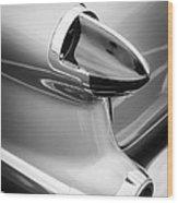 1956 Oldsmobile 98 Taillight Wood Print