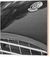 1957 Ac Ace Bristol Roadster Hood Emblem Wood Print