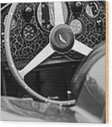 1957 Aston Martin Dbr2 Steering Wheel Wood Print by Jill Reger