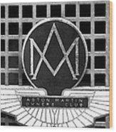 1957 Aston Martin Owner's Club Emblem Wood Print by Jill Reger