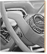 1957 Chevrolet Cameo Pickup Truck Steering Wheel Emblem Wood Print