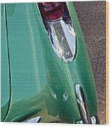 1957 Chevrolet Corvette Taillight Wood Print
