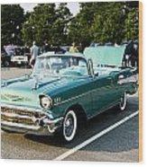 1957 Chevy Bel Air Green Wood Print