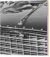 1957 Chrysler 300c Grille Emblem Wood Print