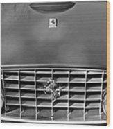 1957 Ferrari 410 Superamerica Coupe Grille Emblem Wood Print