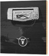 1957 Ford Custom 300 Series Ranchero Emblem Wood Print