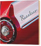 1957 Ford Custom 300 Series Ranchero Taillight Emblem Wood Print