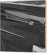 1957 Ford Fairlane Convertible Wheel Emblem Wood Print
