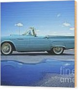 1957 Ford Thunderbird Convertible Wood Print