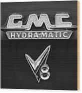 1957 Gmc Hydra-matic V8 Emblem Wood Print