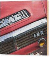 1957 Gmc V8 Pickup Truck Grille Emblem Wood Print