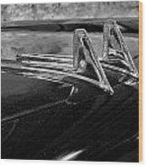 1957 Lincoln Capri Hood Ornament Wood Print