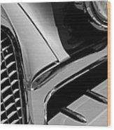 1957 Studebaker Golden Hawk Hardtop Grille Emblem Wood Print
