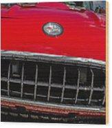 1958 Chevrolet Corvette Grille Wood Print