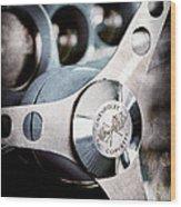 1958 Chevrolet Corvette Steering Wheel Emblem Wood Print