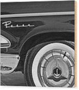 1958 Edsel Pacer Wheel Emblem Wood Print