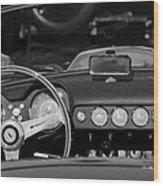 1958 Ferrari 250 Gt Lwb California Spider Steering Wheel Emblem -  Dashboard Wood Print