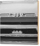 1958 Gmc Series 101-s Pickup Truck Grille Emblem Wood Print