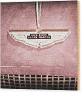 1959 Aston Martin Db Mk IIib Drophead Coupe Emblem Wood Print