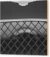 1959 Aston Martin Jaguar C-type Roadster Hood Emblem Wood Print