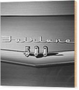 1959 Ford Fairlane 500 Emblem Wood Print