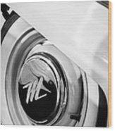 1959 Nash Metropolitan 1500 Convertible Wheel Emblem Wood Print